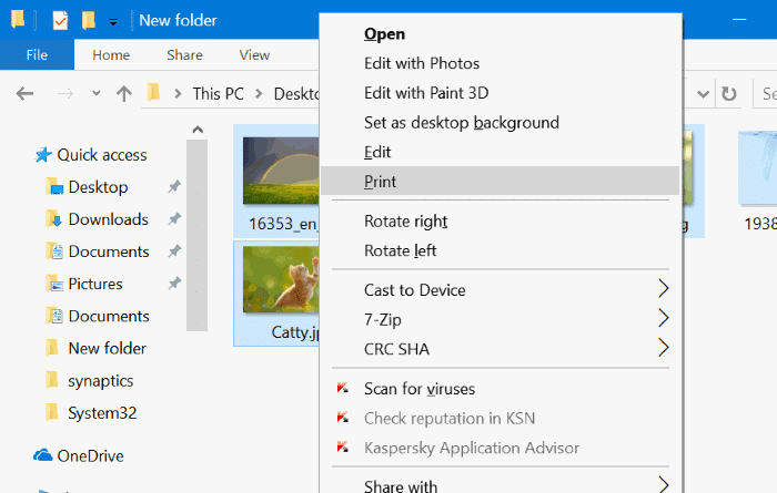 combine multiple pictures into one PDF in Windows 10 pic1