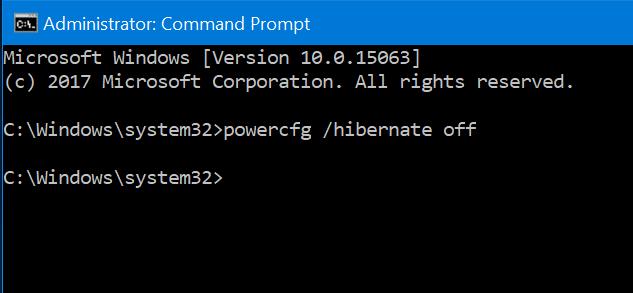 delete hiberfil.sys file in Windows 10 pic7