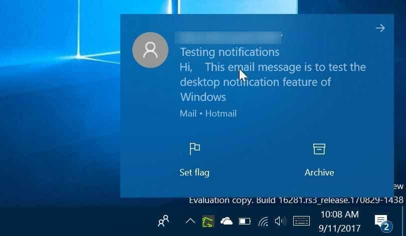 disable desktop notification for specific apps in Windows 10 pic1
