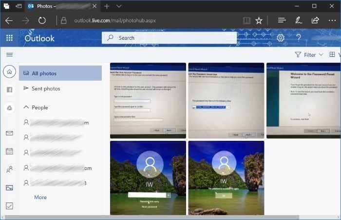Download All Sent And Received Photos From All Emails In Outlook.com