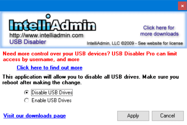 enable or disable USB drives in Windows 10 pic4
