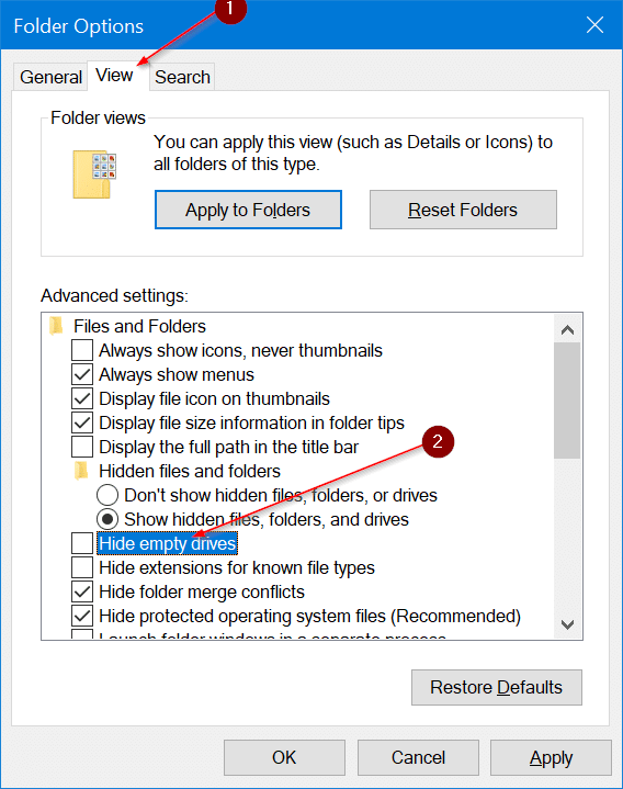 external usb drive not showing up in file explorer