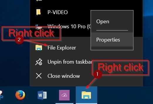 pin quick access to the taskbar in Windows 10 pic04