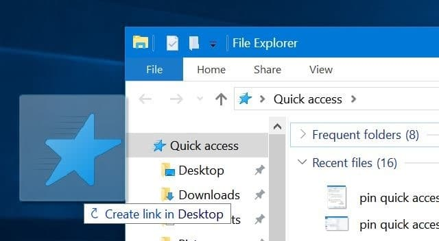 pin quick access to the taskbar in Windows 10 pic5