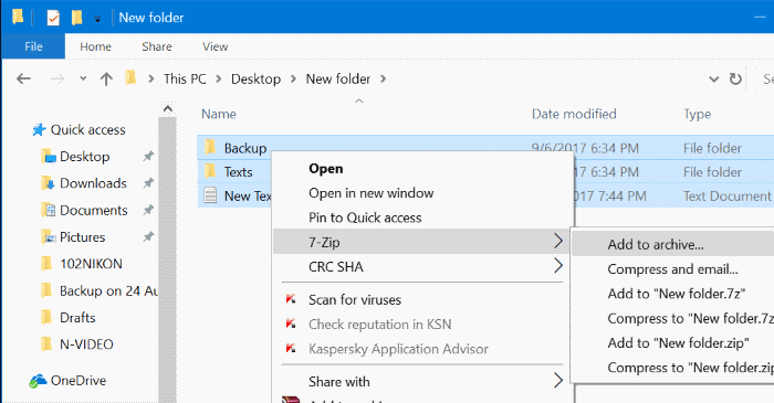 use 7zip to encrypt files and folders in Windows 10 pic1