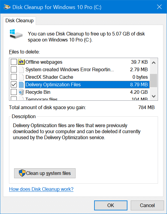 ways to free up drive space in Windows 10 pic12