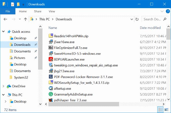 how to delete program fies windows 10