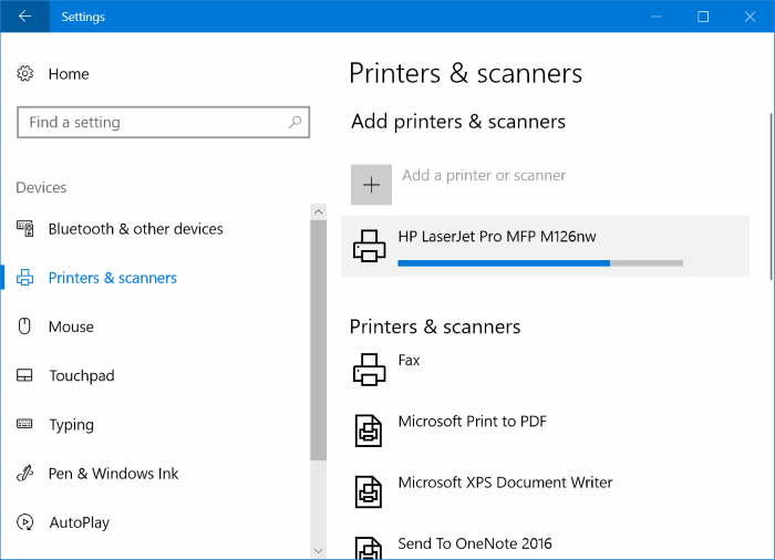 Add wireless printer to Windows 10 PC (5)