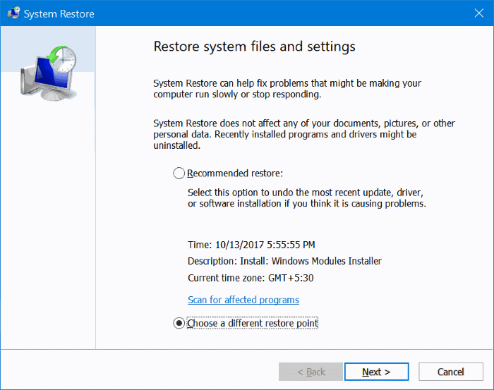 delete restore points in Windows 10 pic01