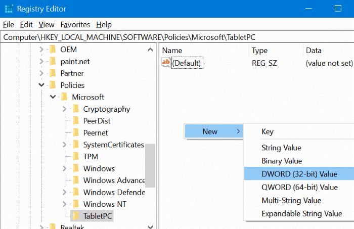 enable or disable snipping tool in Windows 10 pic5