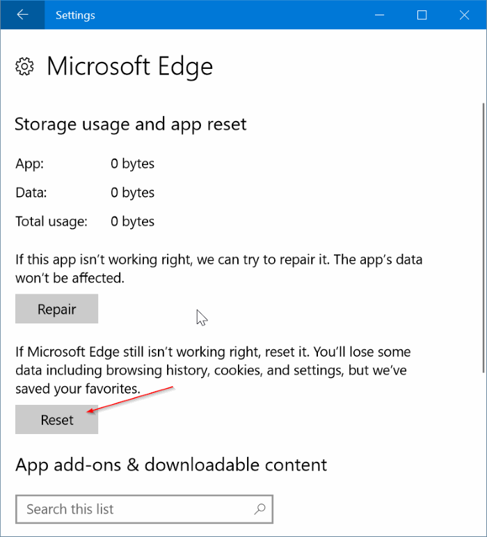 fix Edge browser is slow in Windows 10 pic3