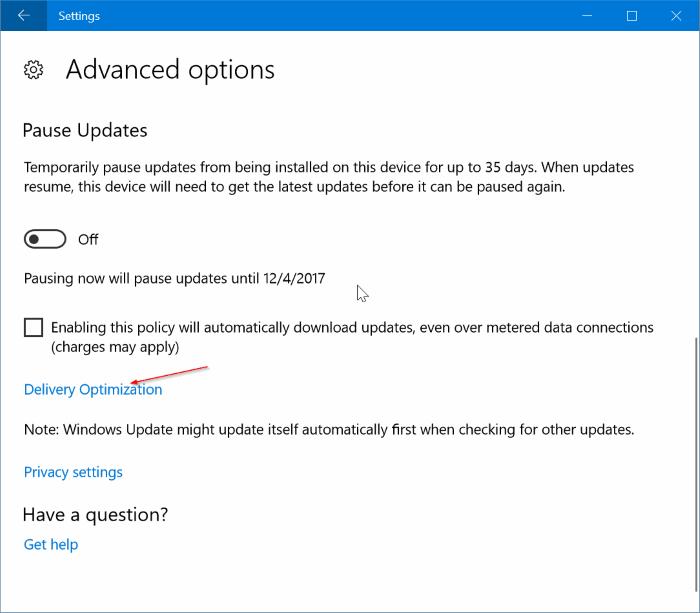 limit Windows Update bandwidth usage in Windows 10 pic2