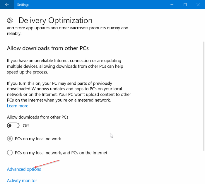 limit Windows Update bandwidth usage in Windows 10 pic3