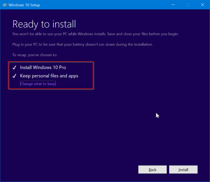 repair Windows 10 install without losing apps and data pic7