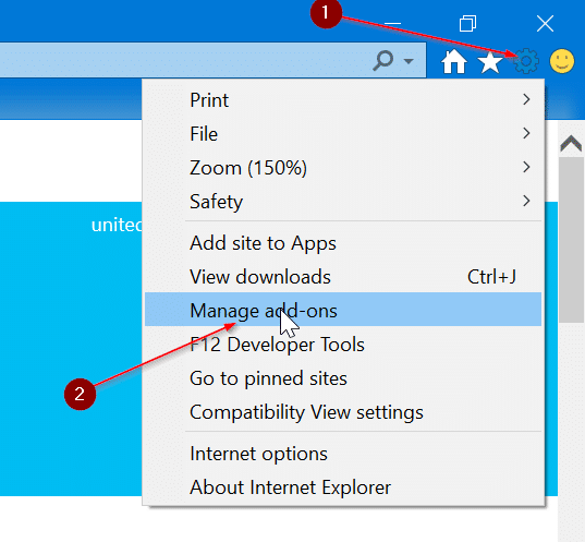 set Google as default search engine in Internet Explorer in Windows 10 pic1