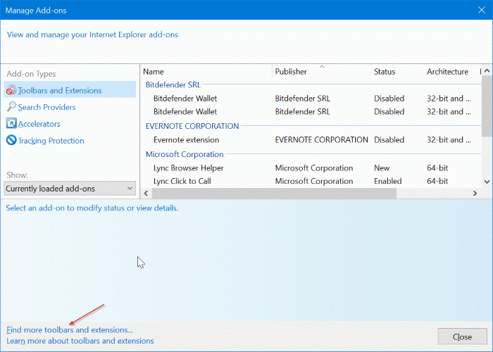 set Google as default search engine in Internet Explorer in Windows 10 pic2