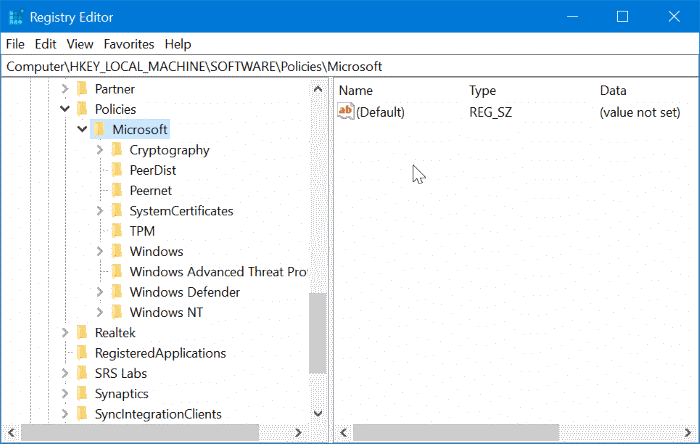 Disable inprivate browsing in Edge browser in Windows 10 pic4