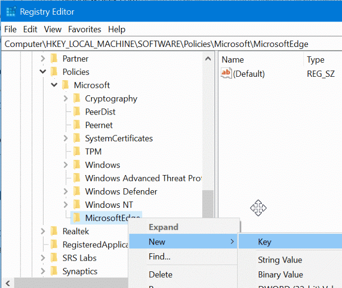 Disable inprivate browsing in Edge browser in Windows 10 pic6