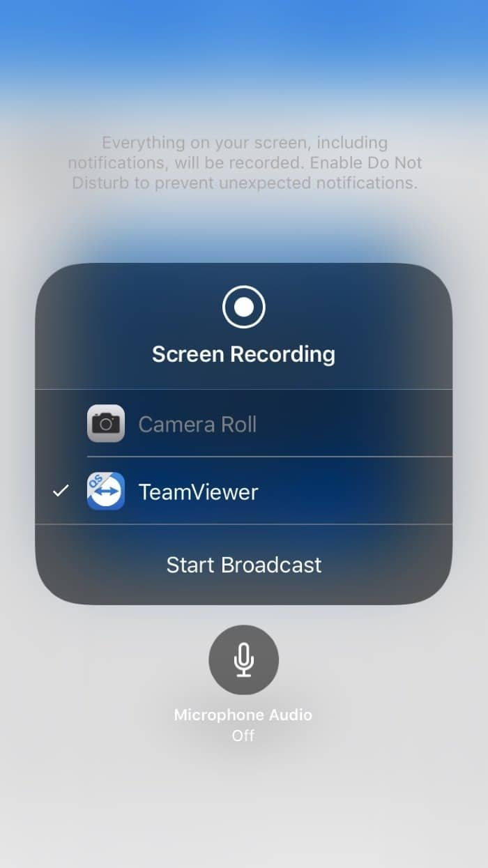 Mirror iphone screen on Windows 10 PC using TeamViewer (3)