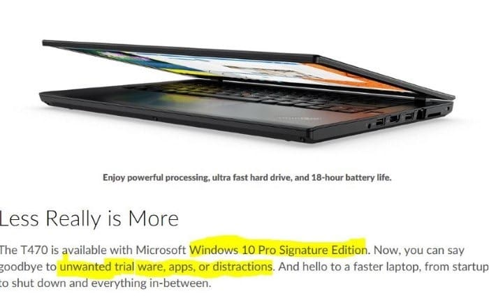 What is Windows 10 signature edition01