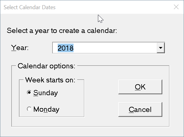 create calendar using Office Word or Excel pic4
