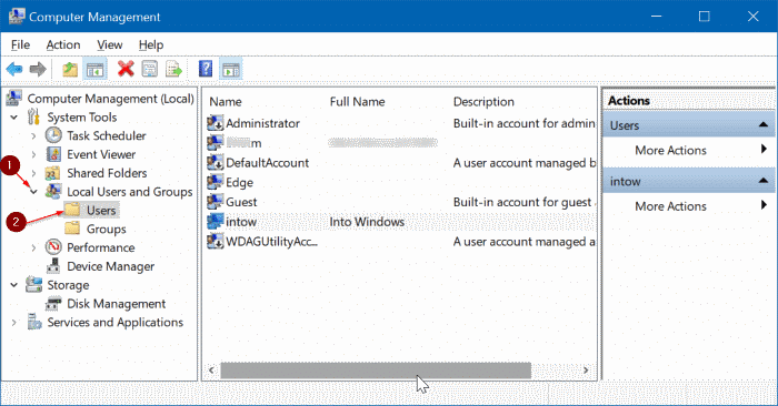 enable or disable user account in Windows 10 pic2