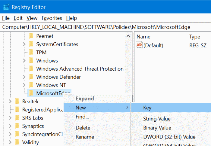 prevent installing extensions in Edge in Windows 10 pic4