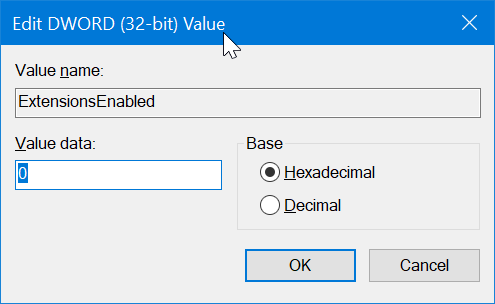 prevent installing extensions in Edge in Windows 10 pic7