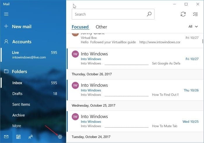 How To Remove An Email Account From Mail App In Windows 10