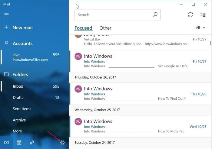 remove an email account from Mail app in Windows 10 pic5