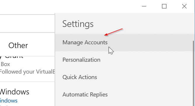 remove an email account from Mail app in Windows 10 pic6
