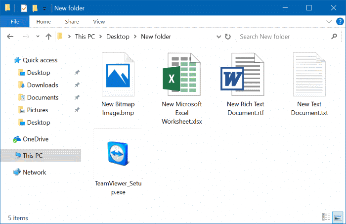 show or hide extensions with file names in Windows 10 file explorer pic01