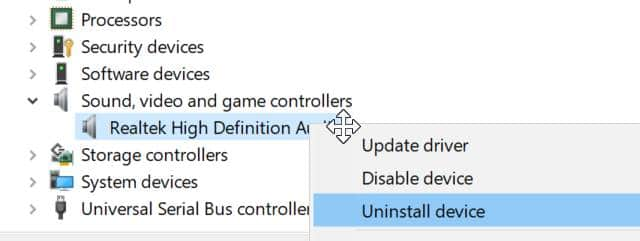 Reinstall Windows 10 audio driver pic2