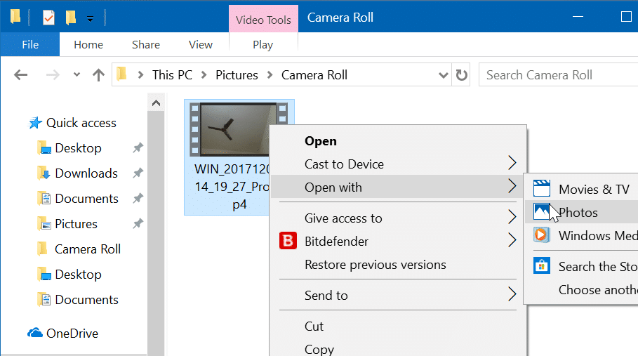 add slow-motion effect to videos in Windows 10 using Photos app pic1