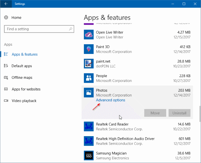 photos add-on for photos app in Windows 10 pic1