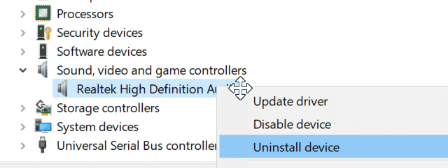 reinstall audio driver in Windows 10 pic3