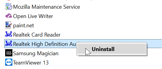 reinstall audio driver in Windows 10 pic7