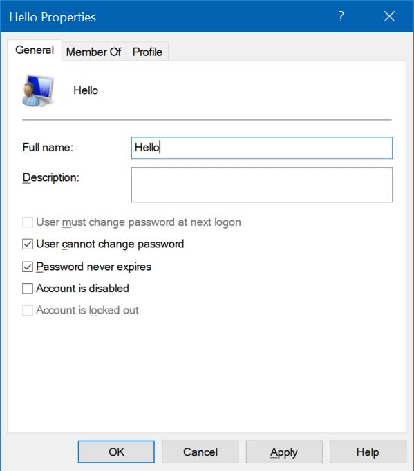 rename user accounts in Windows 10