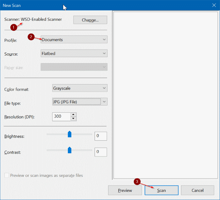 save scanned documents and pictures as PDF in Windows 10 pic02