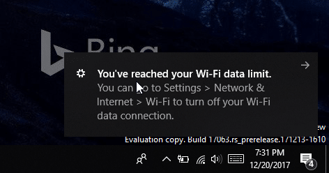 set data limit for WiFi networks in Windows 10 pic5