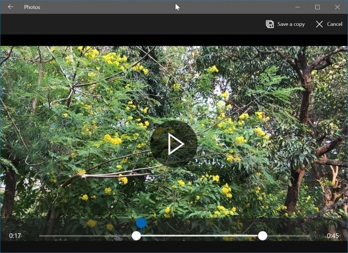 trim video files in windows 10