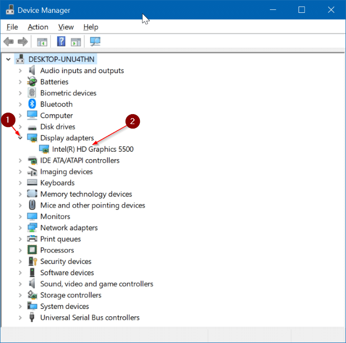 Reinstall display graphics driver in Windows 10 pic2