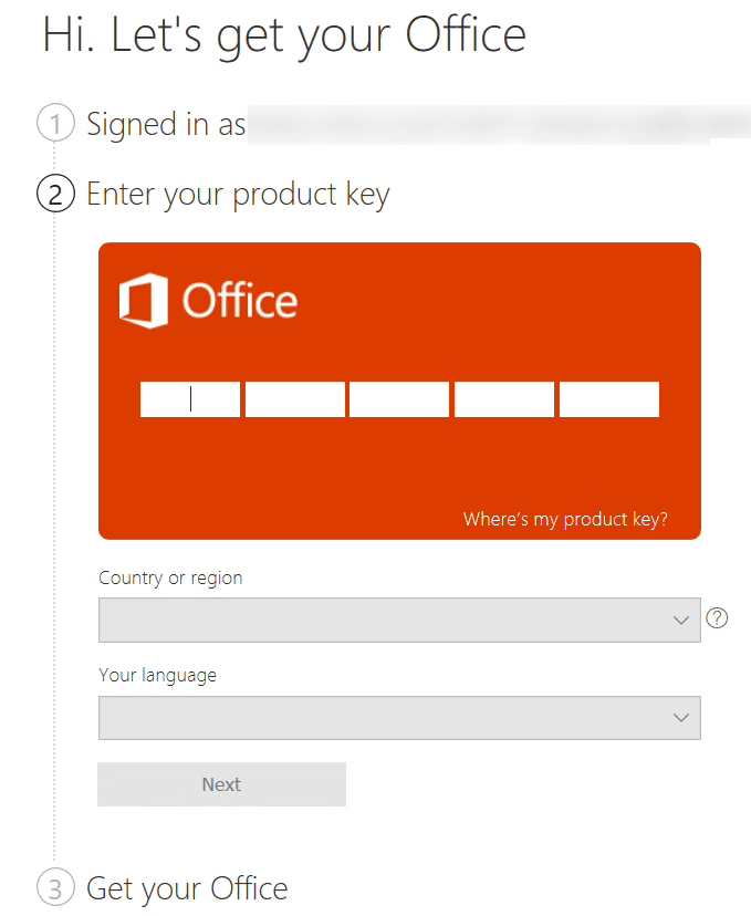 check if your Office 2016 or 2013 product key is valid pic2