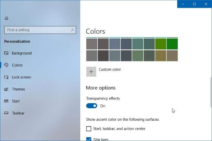 How To Enable Or Disable The Fluent Design In Windows 10
