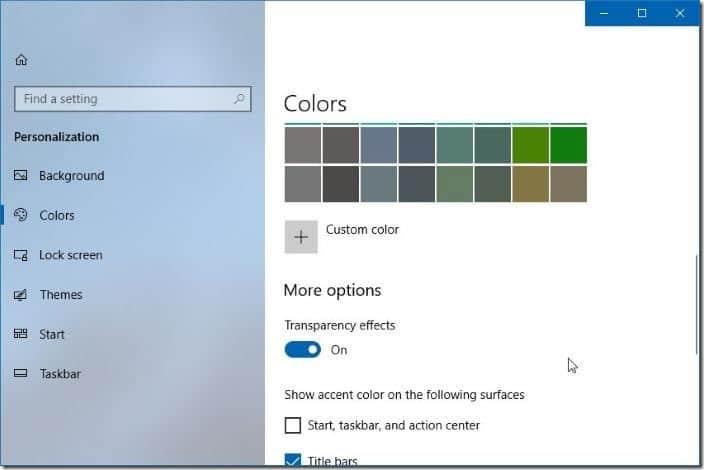 disable fluent design in Windows 10 pic4