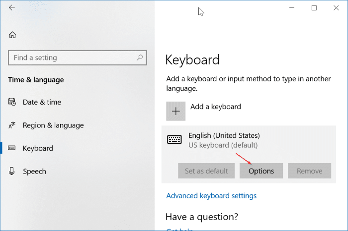 enable or disable auto correct in Windows 10 pic1
