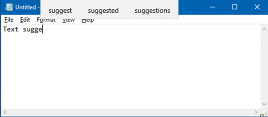 enable text suggestions for hardware keyboard in Windows 10 pic1