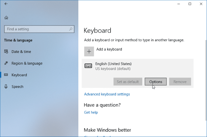enable text suggestions for hardware keyboard in Windows 10 pic3