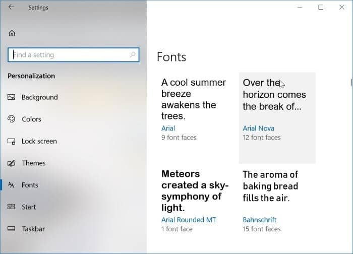 install new fonts from Store in Windows 10 pic6