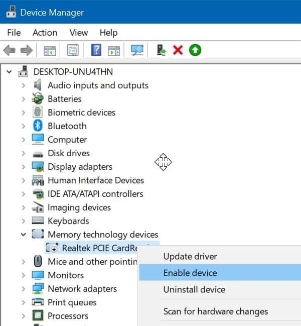 sd card not showing up in Windows 10 File Explorer pic8